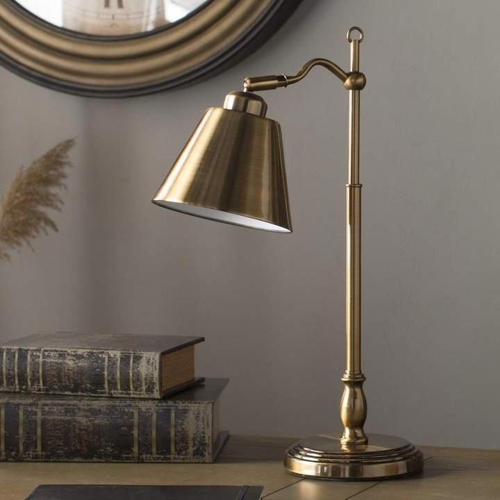 Andover Mills Keach 19 Antique Brass Desk Lamp Lighting
