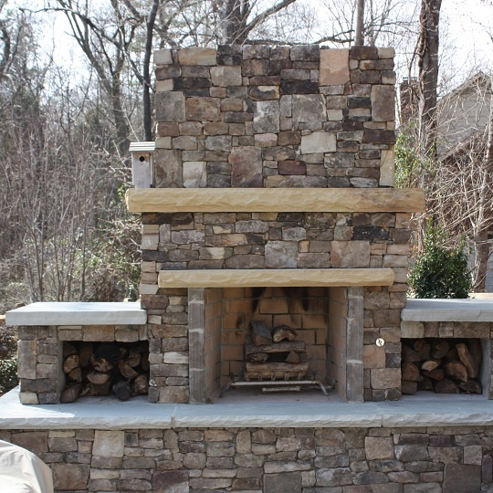 Outdoor Fireplace Kits Lowes Fireplace Outdoor Fireplace: FireRock Outdoor Fireplace Kit