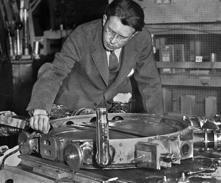 Lawrence with the 37 1/2 inch Cyclotron | Flickr - Photo Sharing!