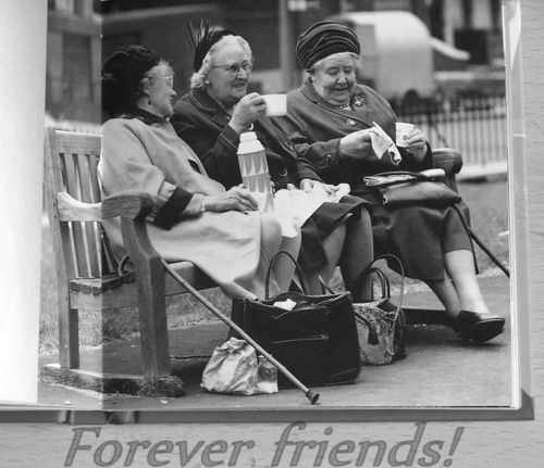 Very few friendships last a lifetimes. This pic is to sweet.definately something to be cherished