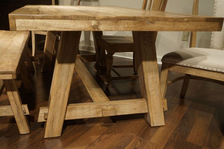 trestle table dining - Google Search
