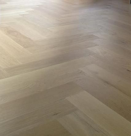 white oak floor with white stain