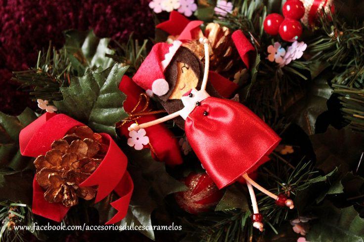 Quecas de Fieltro / Dolls felt Mama Noel mod25 http://accesoriosdulcescaramelos.blogspot.com.es/search/label/Mu%C3%B1ecas%20%28Quecas%20de%20Fieltro%29