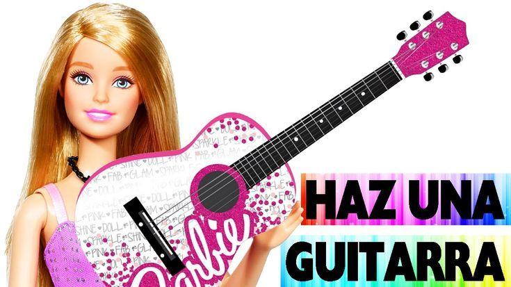 Cómo hacer una guitarra para tu muñeca – Manualidades faciles para muñec… -…