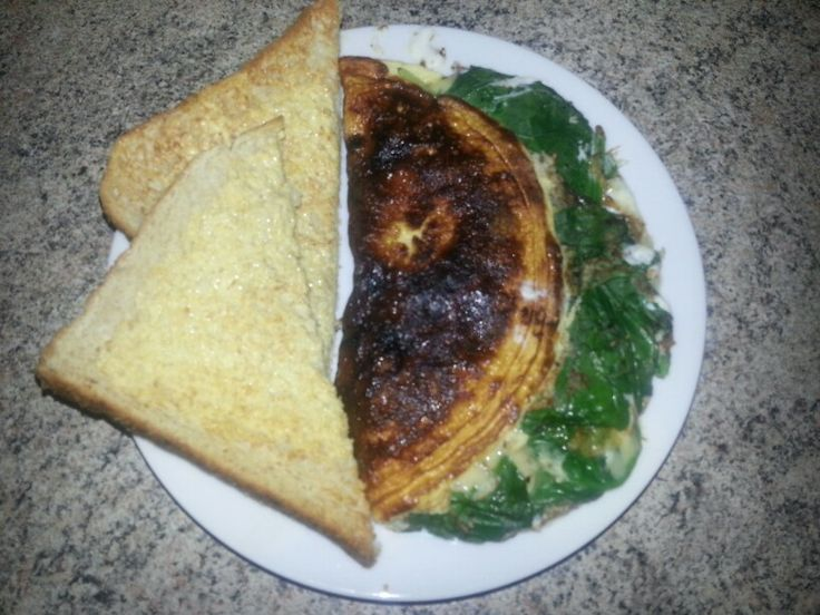 Spinach and Two-Cheese Omelette