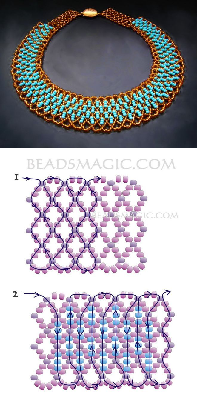 Free pattern for beaded necklace Paula | Beads Magic