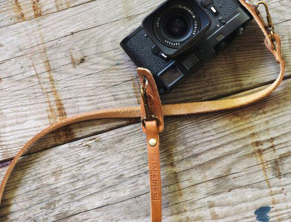 Handmade Leather Camera Strap Olympus OMD Fuji x-pro by TAPandDYE