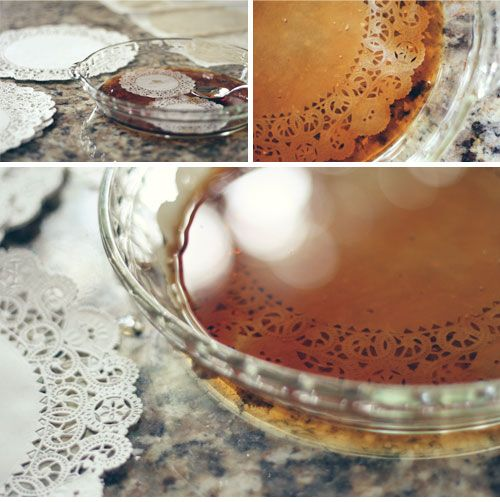 Dye doilies in coffee for a vintage look and create a garland by folding them in half