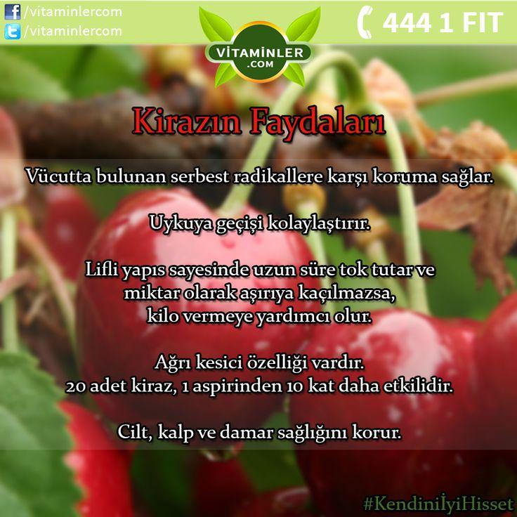 Kiraz Meyvesinin Faydalarını Tüm Dostlarınızla Paylaşın!  #vitaminler…