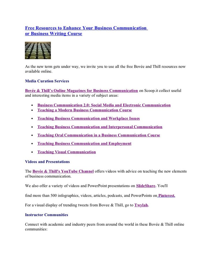 Teaching Business Communication or Business Writing: Free Instructor Resources.