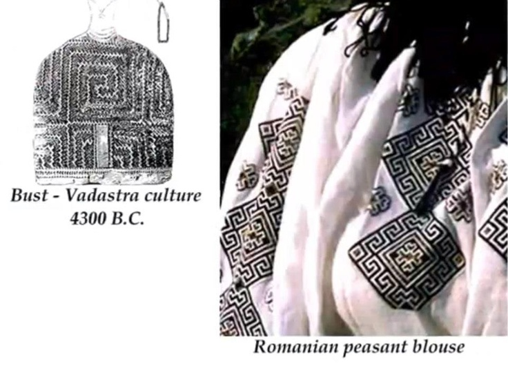Links to the symbols on the #RomanianBlouse date back to the 6th millenium B.C. from the Neolithic Cucuteni culture