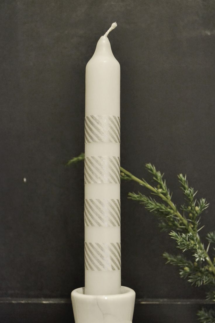 Simple Washi Advent Candle