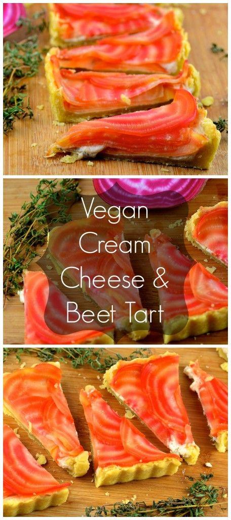 Vegan Cream Cheese and Beet Tart #vegan #tart #beet #cream cheese #goVegie #vegetarian #appetizer @GoVeggieFoods