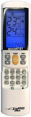 Universal Replacement ELECTROLUX Air Conditioner Remote Control Over 4000 Codes