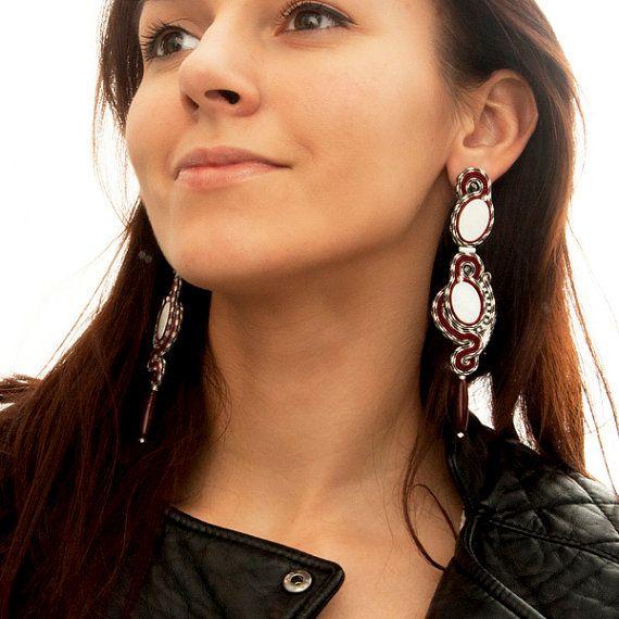 Bohemian earrings. Very Long Earrings. Gioielli grandi by MANJApl