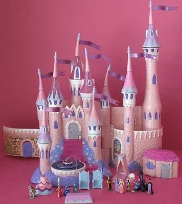 Vtg Polly Pocket Disney Sleeping Beauty Briar Rose Castle Playset LIGHTS MUSIC