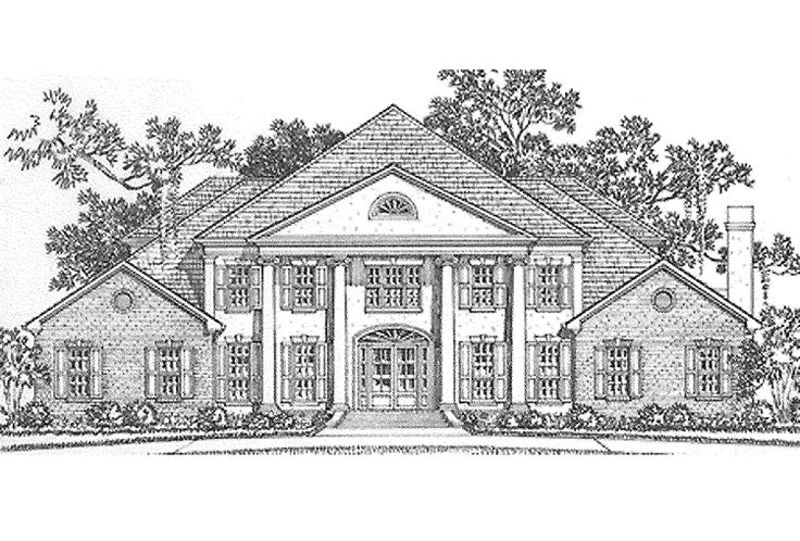 66 best pretty homes images on pinterest dream houses for Neoclassical house plans
