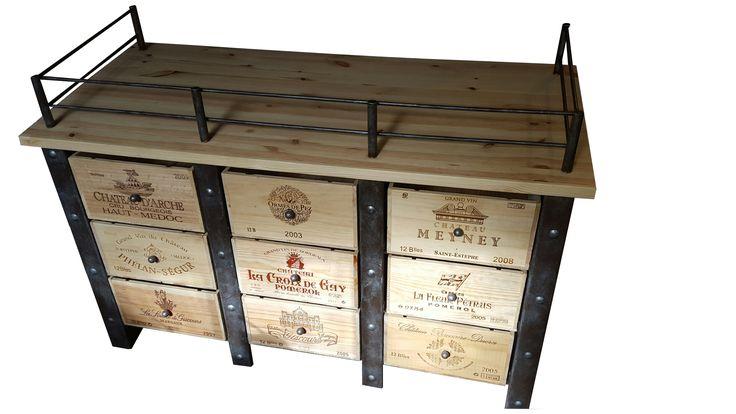 meuble caisse de vin, fabrication sur mesure  website : http://www.douelledereve.com/