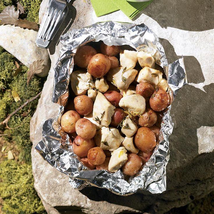 Poulet et pommes de terre au citron et au thym