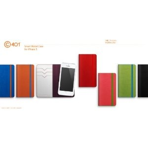 Lab.C Apple iPhone 5 Smart Leather Wallet Case Magneto - Orange