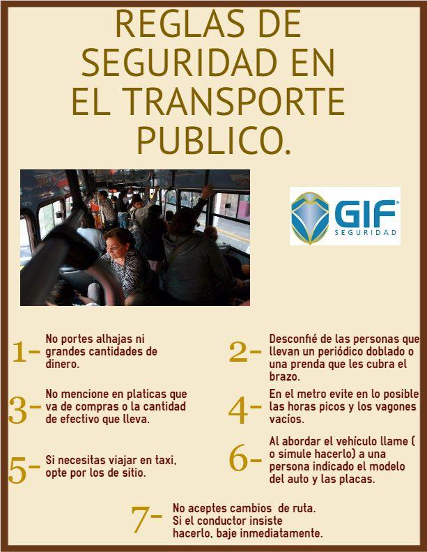 Hoy en día es bueno seguir estas reglas en el transporte publico.