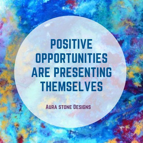 Positive opportunities are presenting themselves.    All Aura bracelets come with affirmations matched to the intent and metaphysical properties of the natural stones.