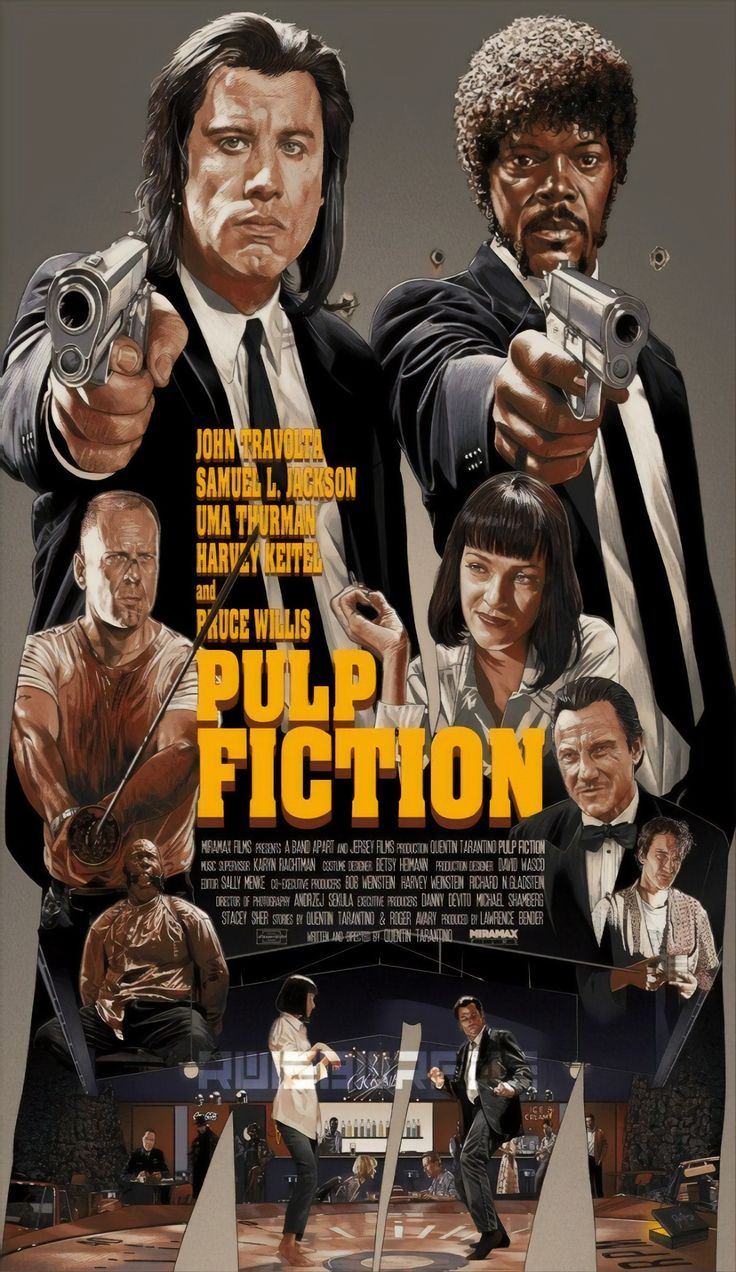Best quality poster of pulp fiction peliculas cine pulp
