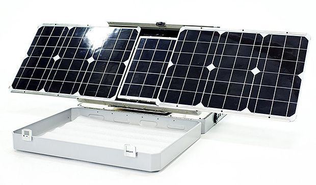 on the subject of self tracking solar Sunflower-inspired solar power technology effortlessly follows the sun  the tracking of the sun throughout the day by sunflowers and other plants by slowly rotating and positioning each leaf .