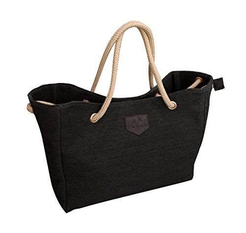 Oferta: 8.99€. Comprar Ofertas de niceEshop(TM) La Bolsa de las Mujeres Simple Hombro de la Lona de la Taleguilla Bolso de Mano, Negro barato. ¡Mira las ofertas!