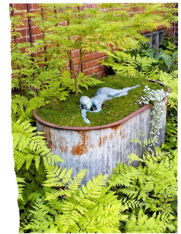 garden art from junk | Garden Art/Garden Junk/Garden Decor / sculpture from Flea Market ...