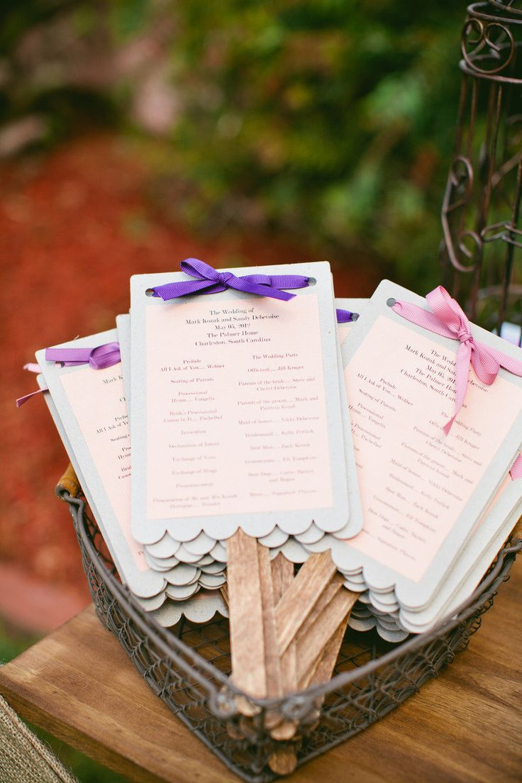 Wedding programs / fans