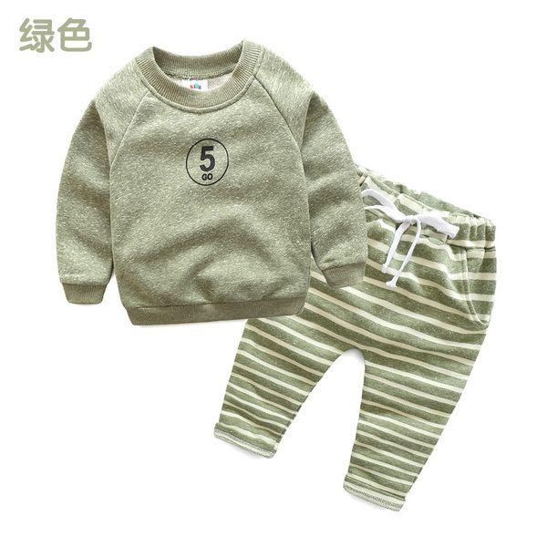 Детские костюмы 2017 осень новые мальчики и девочки детская одежда детские свитера брюки двухсекционные tz-3362