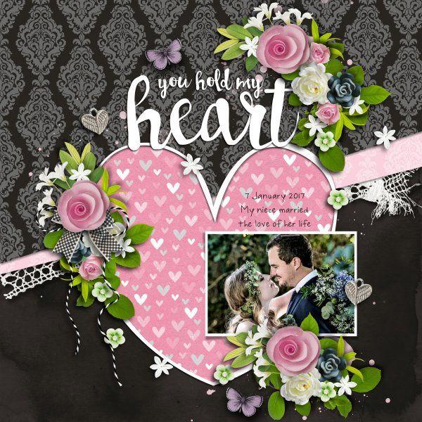 Template i heart you #8 by Heartstrings Scrap Art. Kit Love & Laughter by Heartstrings Scrap Art. Photo mine.