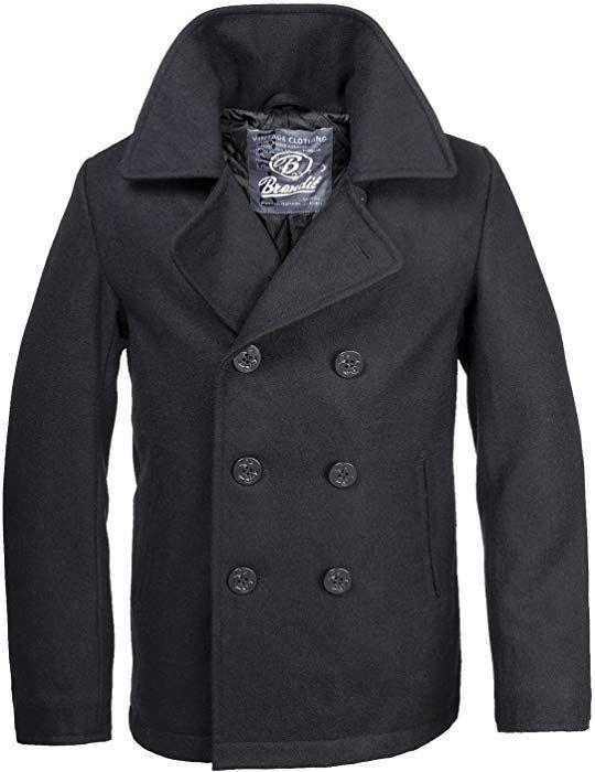 Brandit PEA Coat Schwarz XS: : Bekleidung