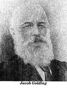 Jacob Golding, b. 1840, Oakington, Cambridgshire, England.  Died 7 July 1907, Kaniva, Victoria.  Married to Rebecca Ann Taylor (1838-1908)  see. http://familystoriesphotographsandmemories.blogspot.com.au/2012/10/jacob-golding-1839-1907.html