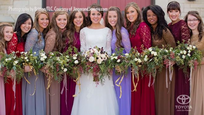 Jinger and her bridesmaids