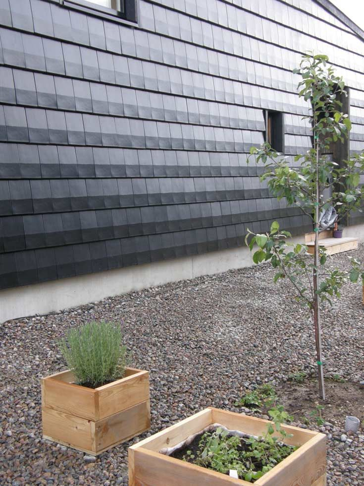 Since Dark Façade Materials Are Very Exposed To Volatile Weather In  Finland, Ceramic Roof Tiles