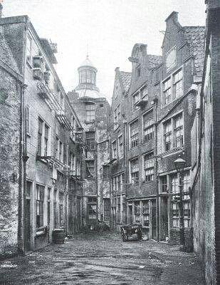 1900 Zwarte bijl steeg. Jordaan, Amsterdam