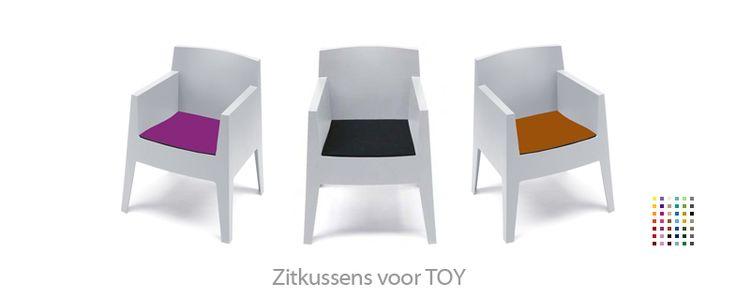 TOY chair stoel philip starck vilt felt kussen zitkussen seatpad stoelkussen hey-sign parkhaus