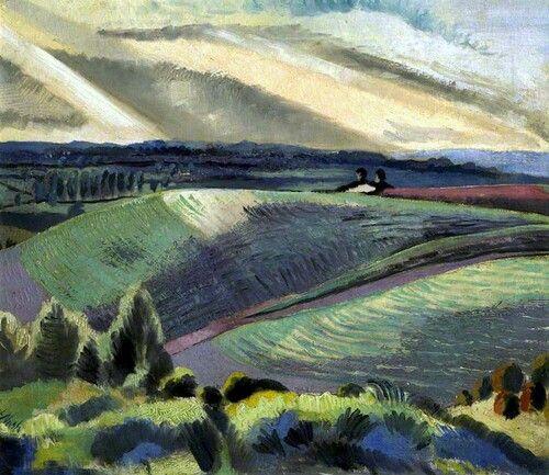 Paul Nash. Cotswold hills