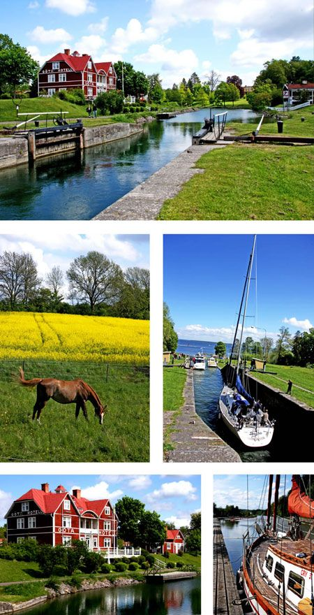 Göta Kanal, Sweden. Someday I'm taking that boat trip!