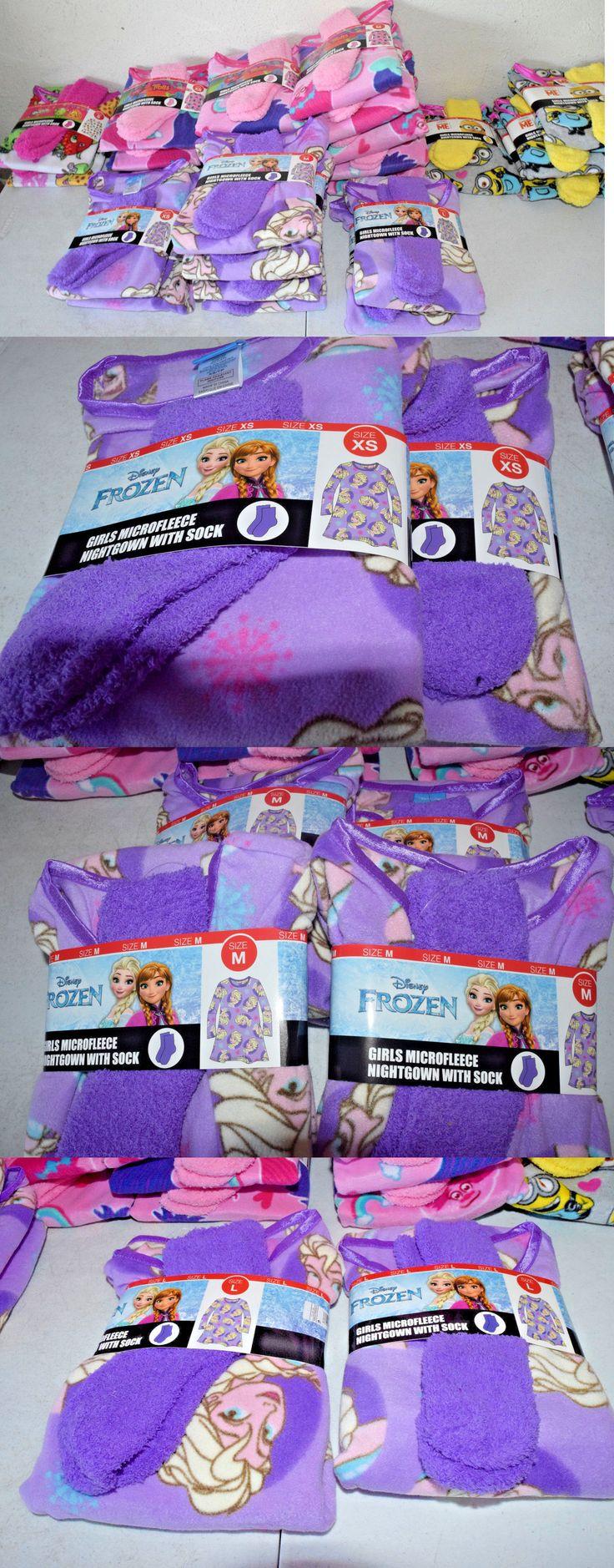 Girls 41965: Girls Nightgown With Socks Pajama Microfleece Lot Of 26 Shopkins Trolls Frozen -> BUY IT NOW ONLY: $123.49 on eBay!