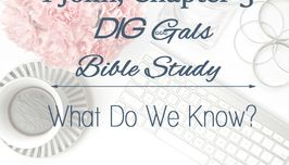DIG Gals Bible Study: 1 John, Chapter 3