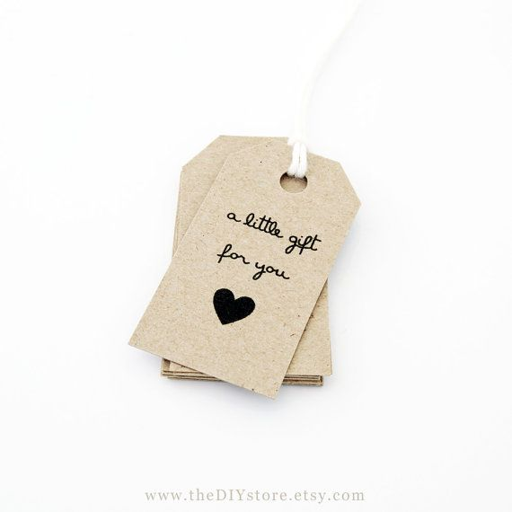 Gift Tag Printable Text Editable SMALL Tag Size door TheDIYStore