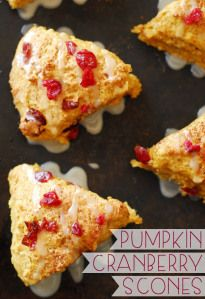 Pumpkin Cranberry Scones - A Duck's Oven