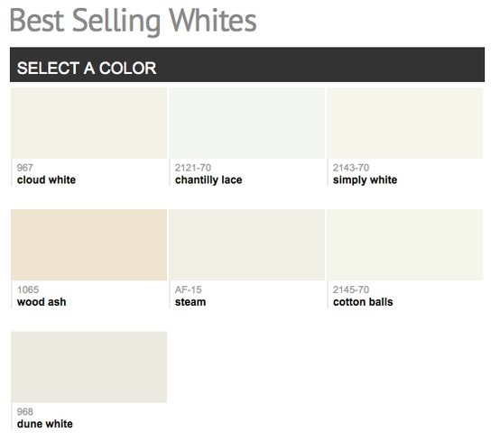 Best selling popular shades of white ivory light for Neutral shades for walls