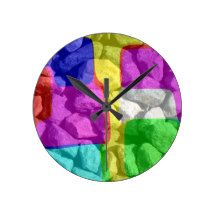 In color space round clock
