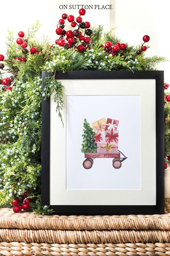 Free Christmas Printables: Holiday Wall Decor Ideas | On Sutton ...