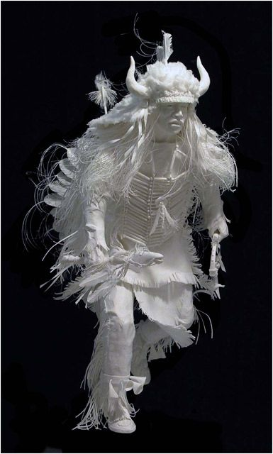 Paper sculpture by Patty and Allen Eckman. Wow, just... wow!