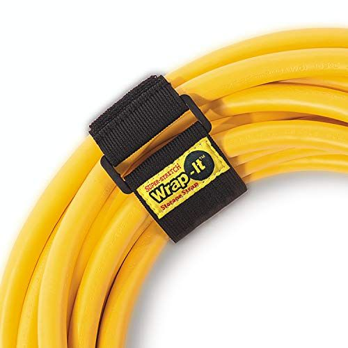 Wrap It Super Stretch Storage Straps Assorted 6 Pack Elastic Hook And Loop Cinch Strap Organizer For Extension Cords Hoses Rope Tools And Cables Home Boat Organization Outdoor Extension